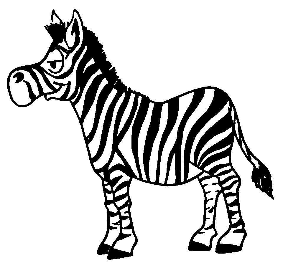 dessin à colorier masque de zebre