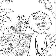 coloriage à dessiner zebre en ligne
