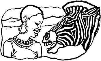 dessin a colorier zebre