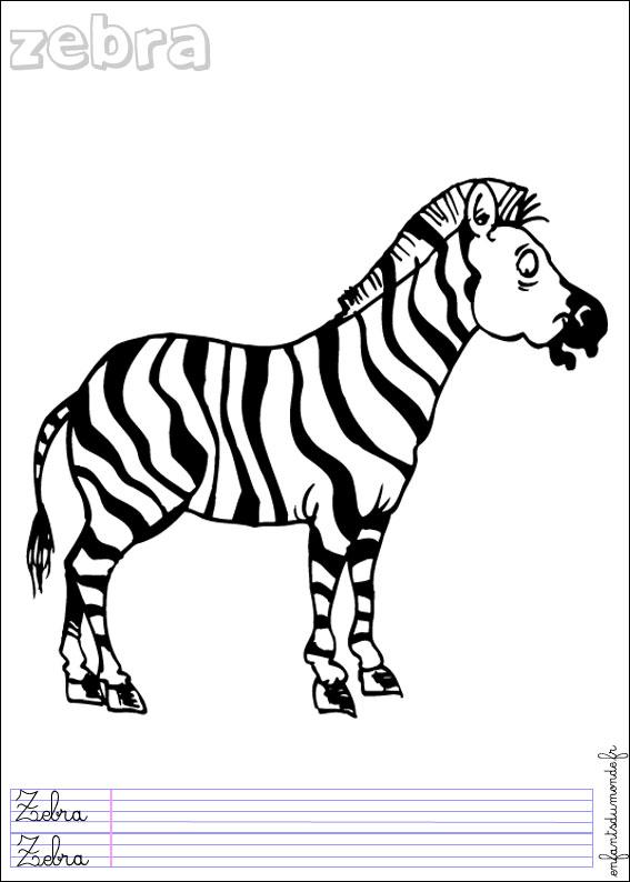 dessin de zèbre en ligne