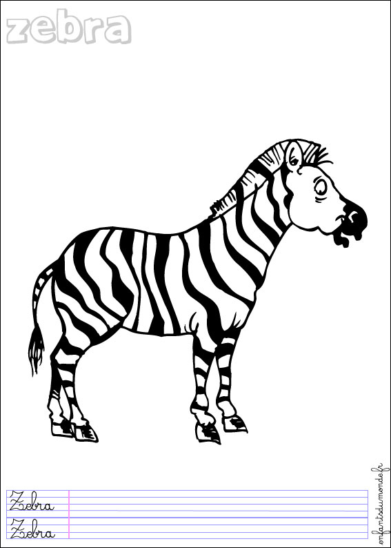 coloriage hugo l'escargot zebre