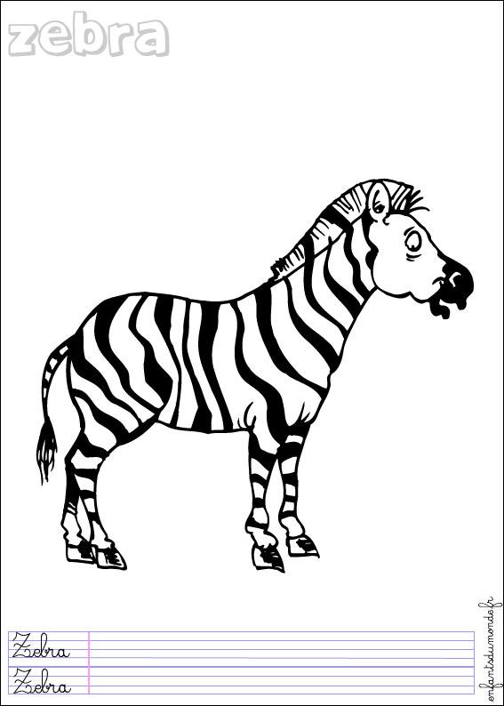 Coloriage Hugo L Escargot Zebre