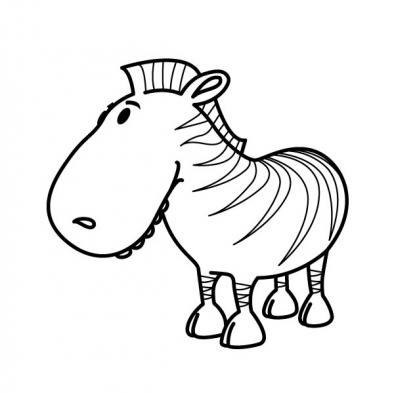 dessin à colorier masque zebre