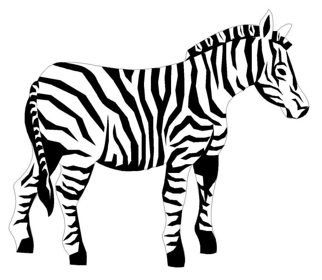 Coloriage zebre imprimer gratuit - Zebre a dessiner ...
