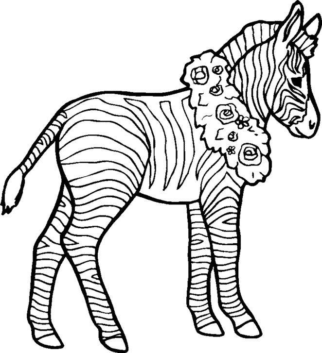 coloriage à dessiner masque zebre