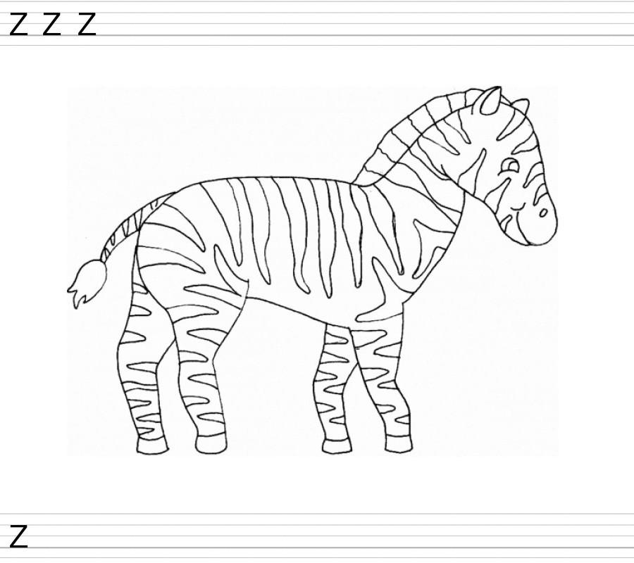 Coloriage dessiner zebre gratuit - Zebre a dessiner ...