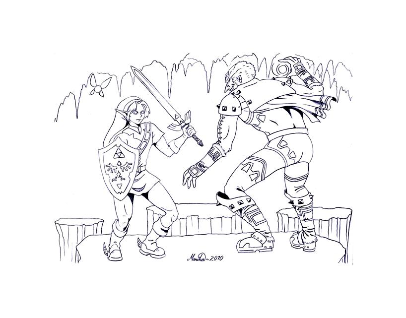 coloriage à dessiner zelda en ligne