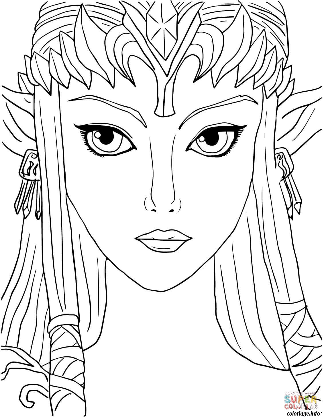 37 dessins de coloriage zelda imprimer for Midna coloring pages