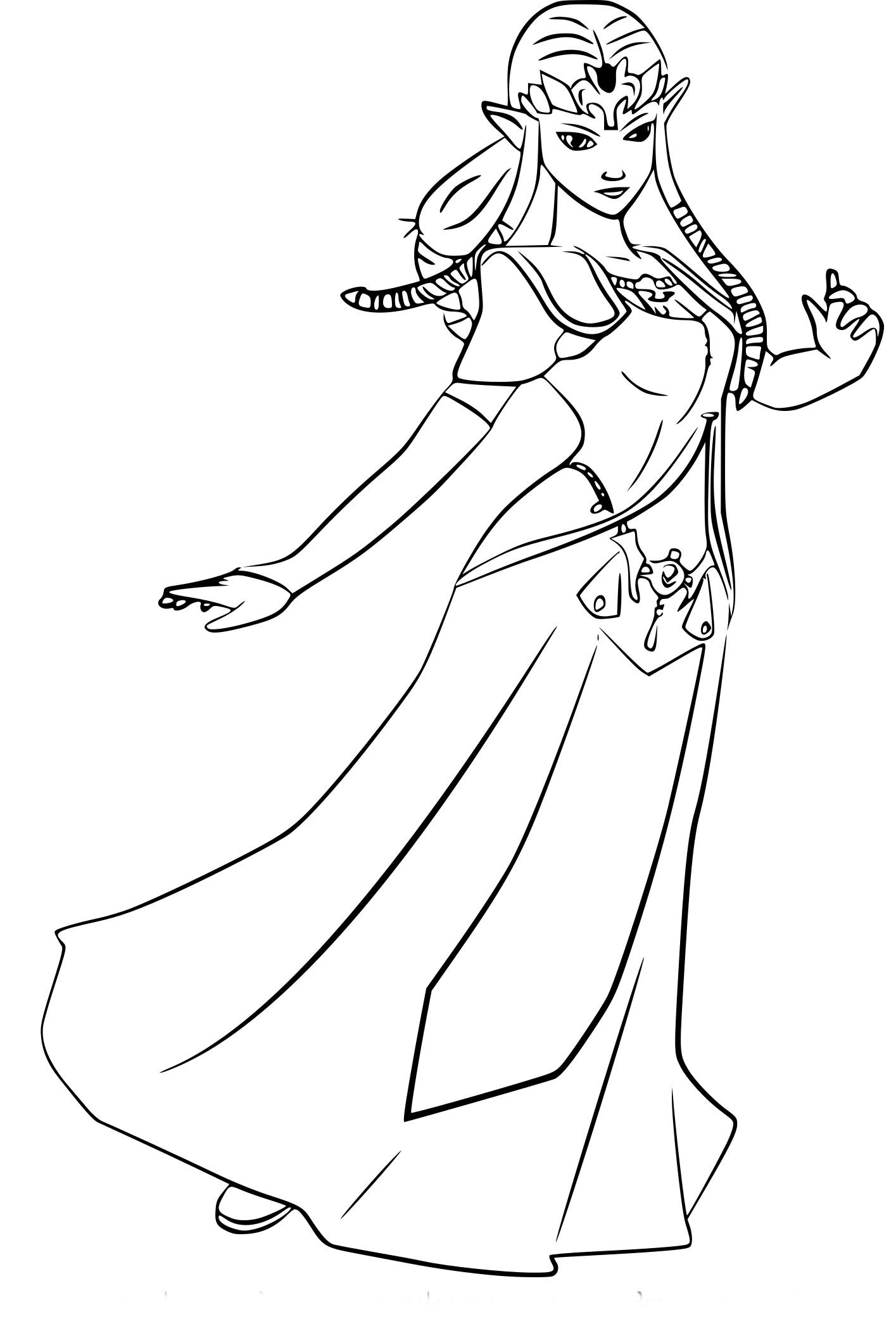 coloriage � dessiner zelda majora's mask