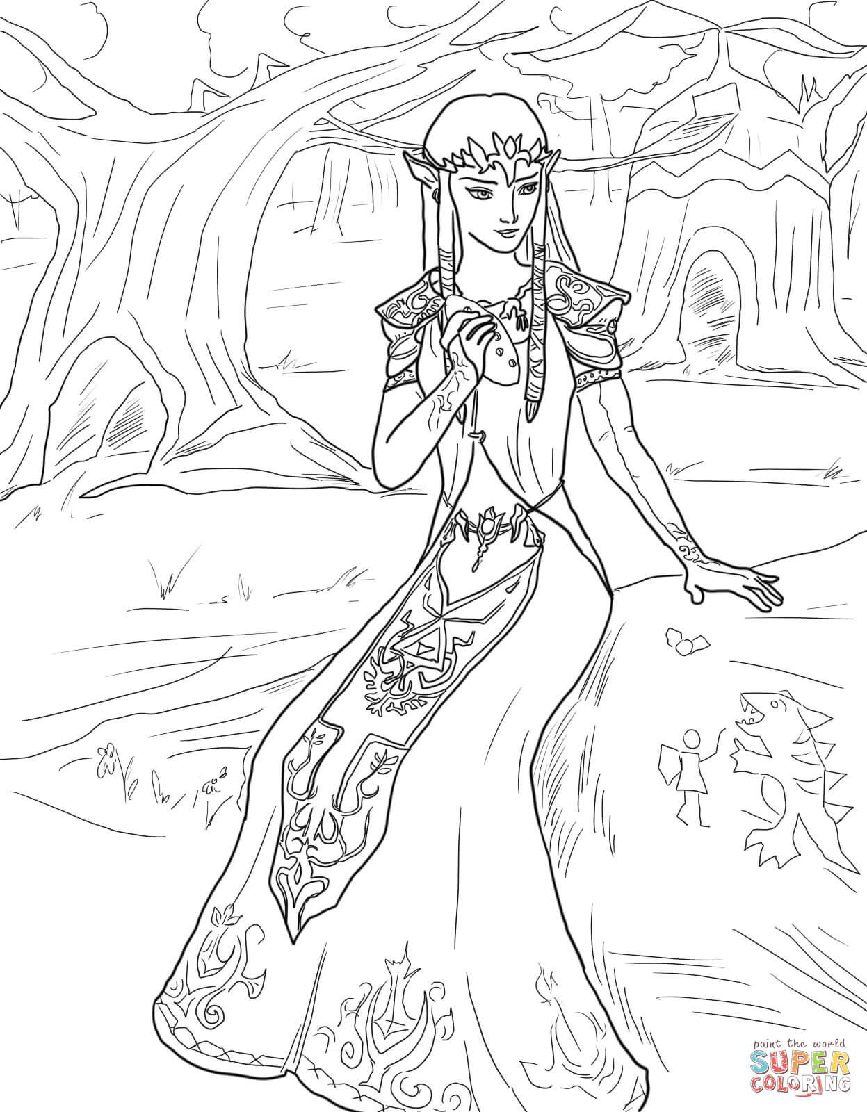 coloriage zelda twilight princess