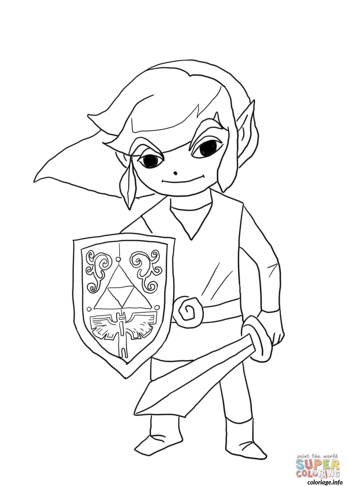 40 Dessins De Coloriage Zelda à Imprimer