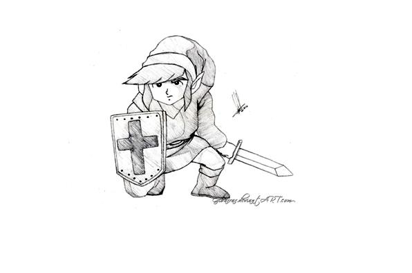dessin à colorier princesse zelda