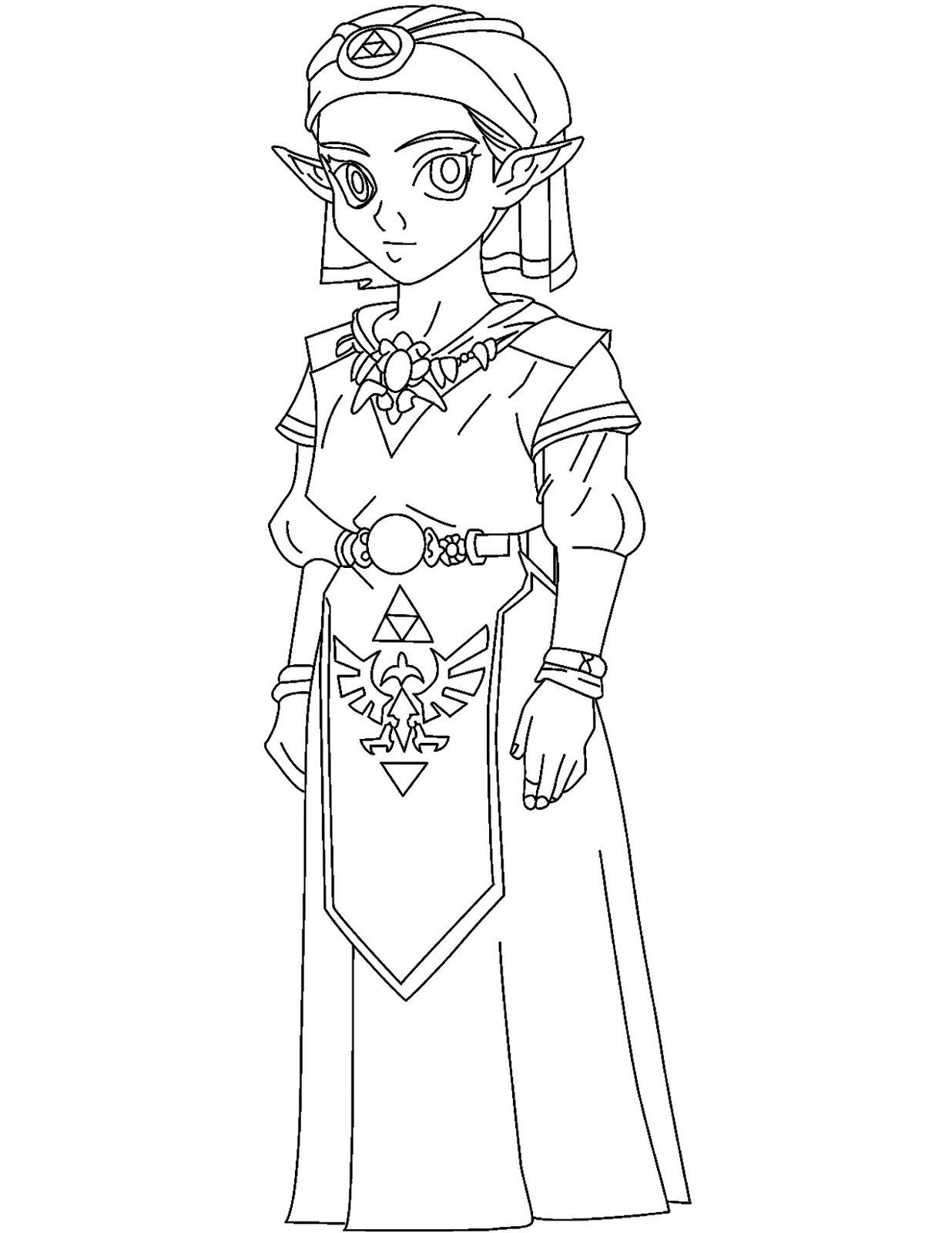 coloriage zelda skyward sword a imprimer