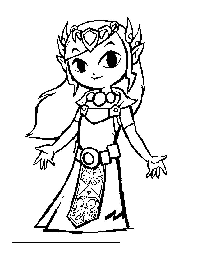 coloriage à dessiner princesse zelda imprimer