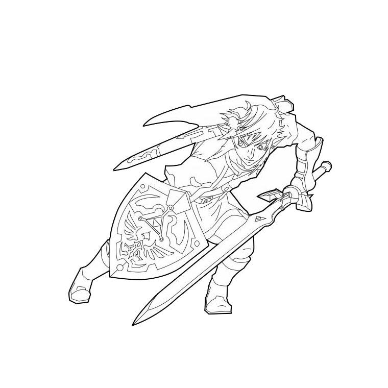 coloriage zelda triforce