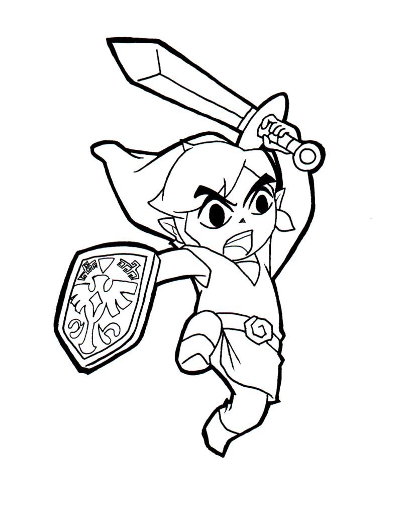 coloriage � dessiner de zelda skyward sword