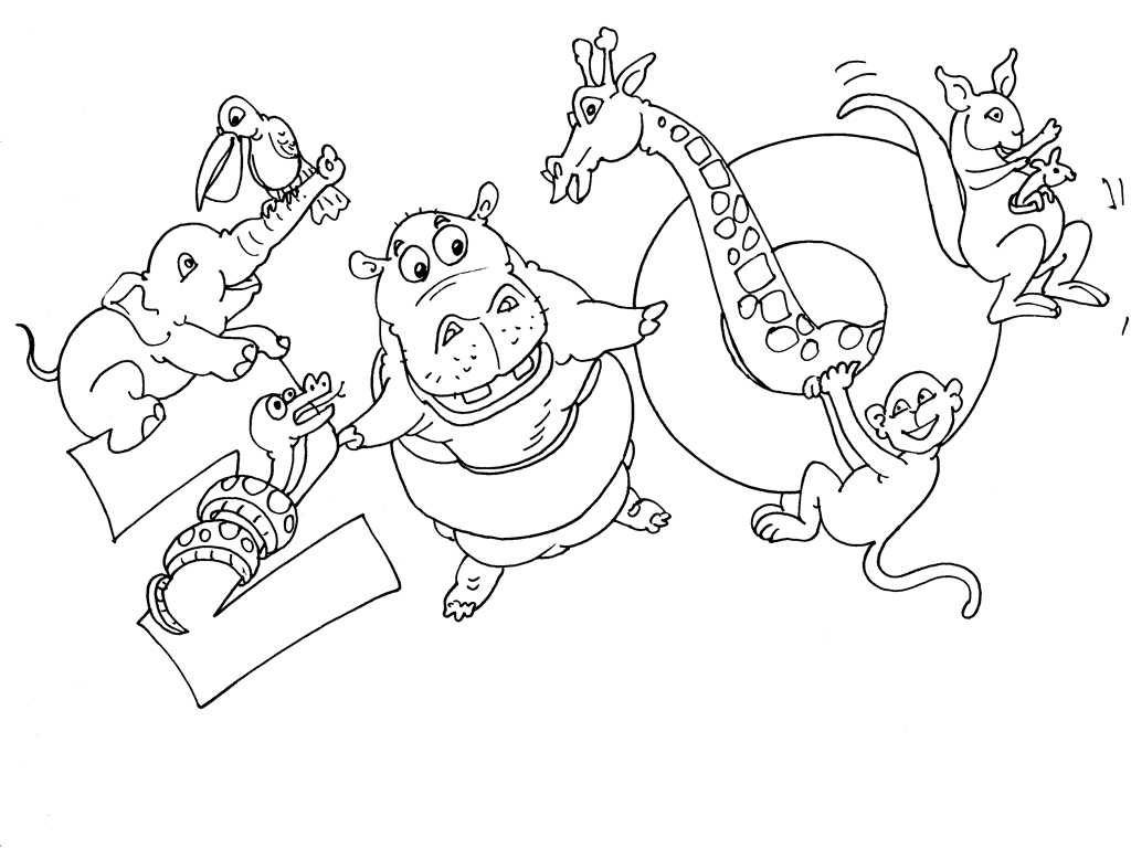 coloriage zoo playmobil