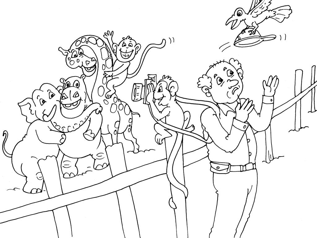 coloriage animaux du zoo gratuit