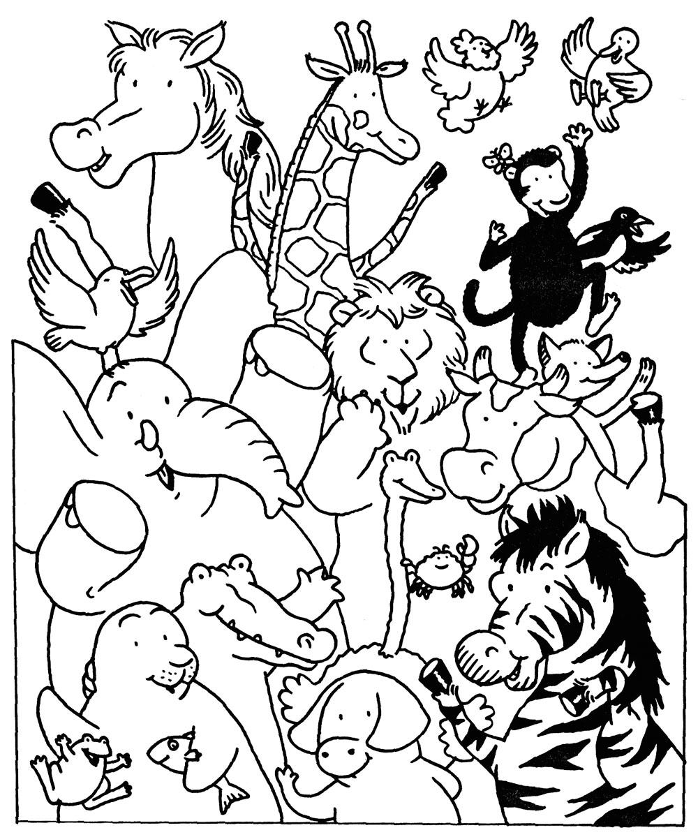 dessin visite au zoo