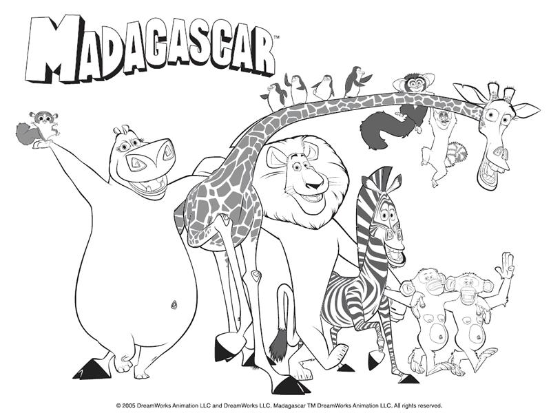 Dessin zoo maternelle - Coloriage animaux zoo ...