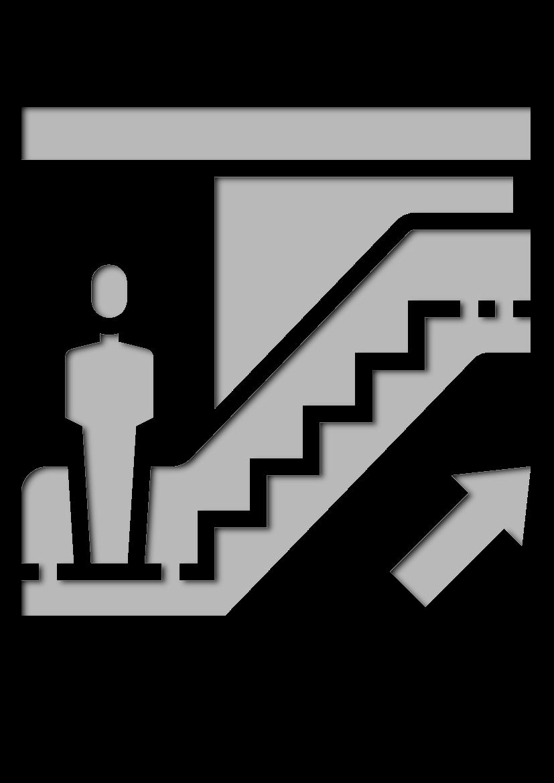 Pochoir Aeroport Escalier