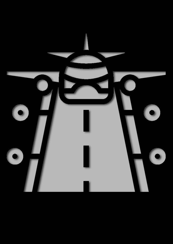 Pochoir Aeroport Atterrissage