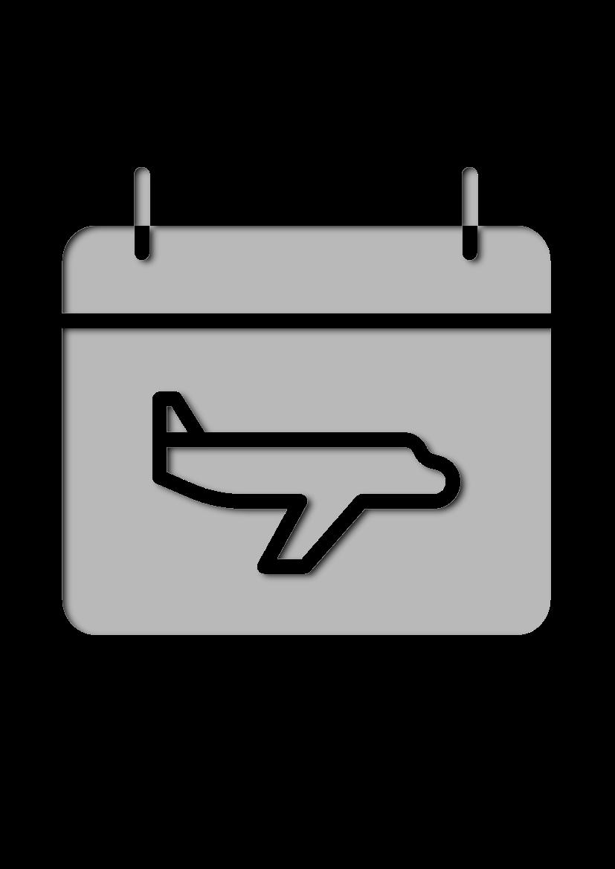 Pochoir Aeroport Calendrier