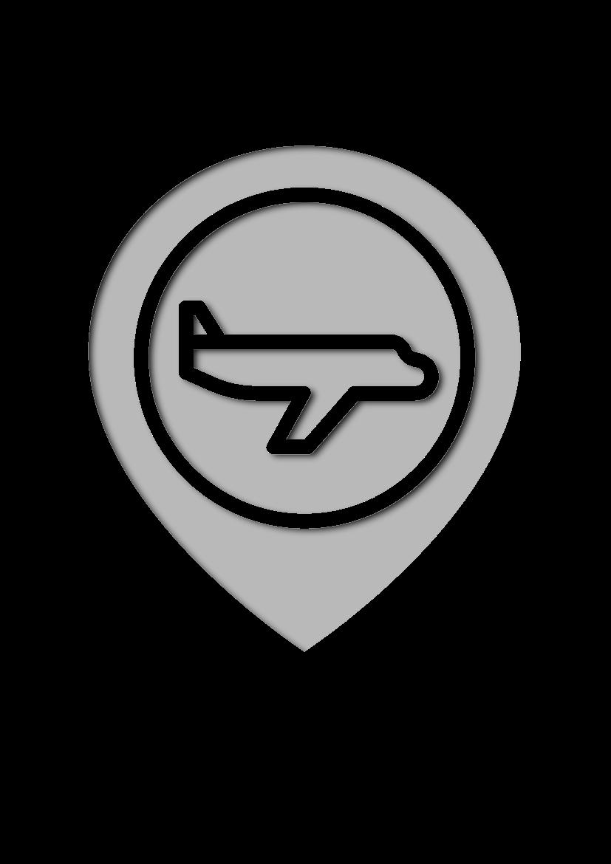 Pochoir Aeroport Espace réservé