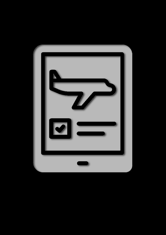 Pochoir Aeroport Tablette