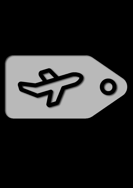 Pochoir Aeroport Étiquette