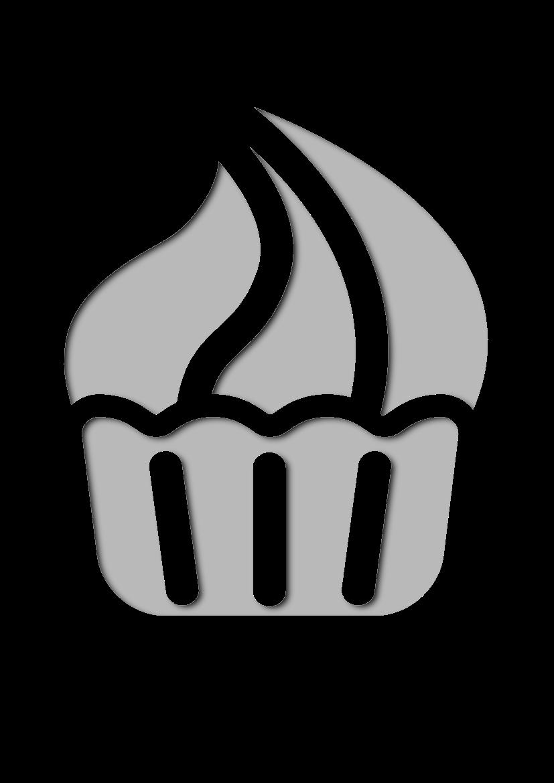 Pochoir Aliments Cupcake � la cr�me