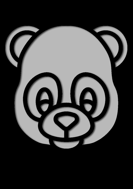 Pochoir Animaux Panda