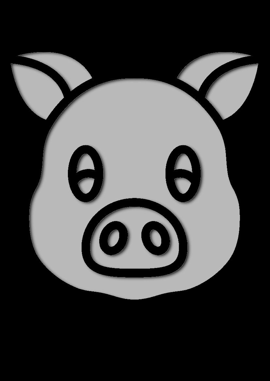 Pochoir Animaux Porc