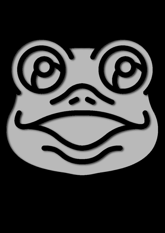 Pochoir Animaux La grenouille