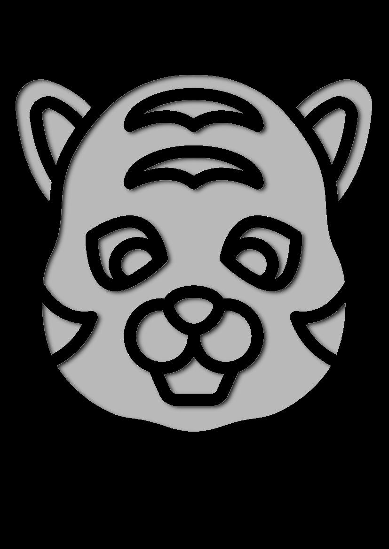 Pochoir Animaux Tigre