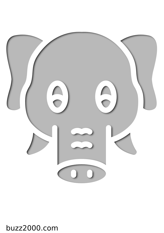 Pochoir Animaux L'éléphant