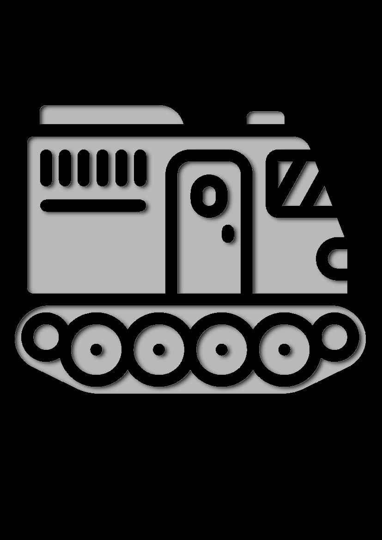 Pochoir Arctique Tracteur
