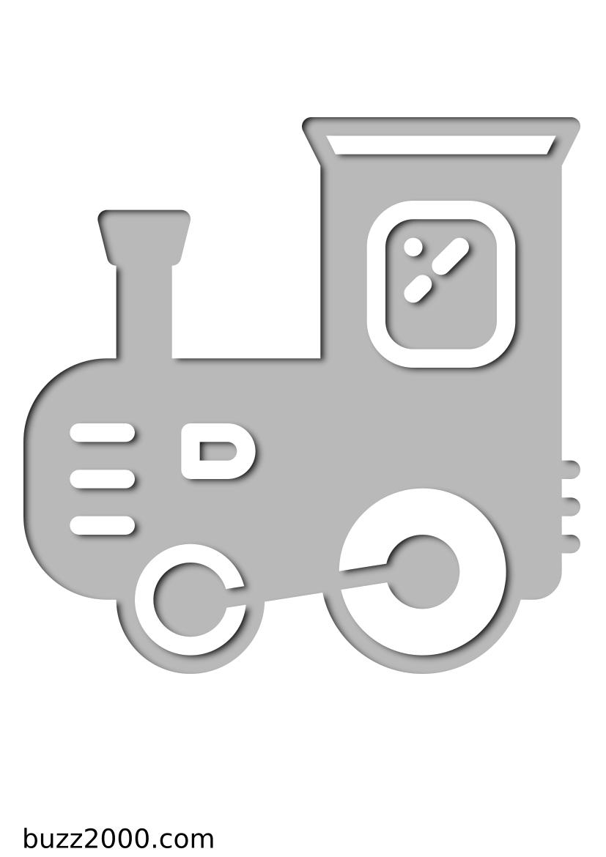 Pochoir Bebe Train