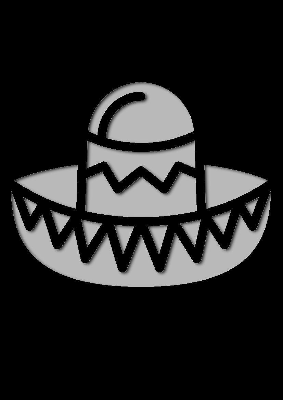 Pochoir Chapeaux Chapeau mexicain