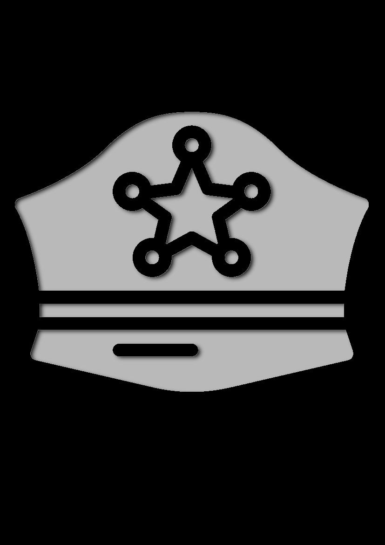 Pochoir Chapeaux Chapeau de police