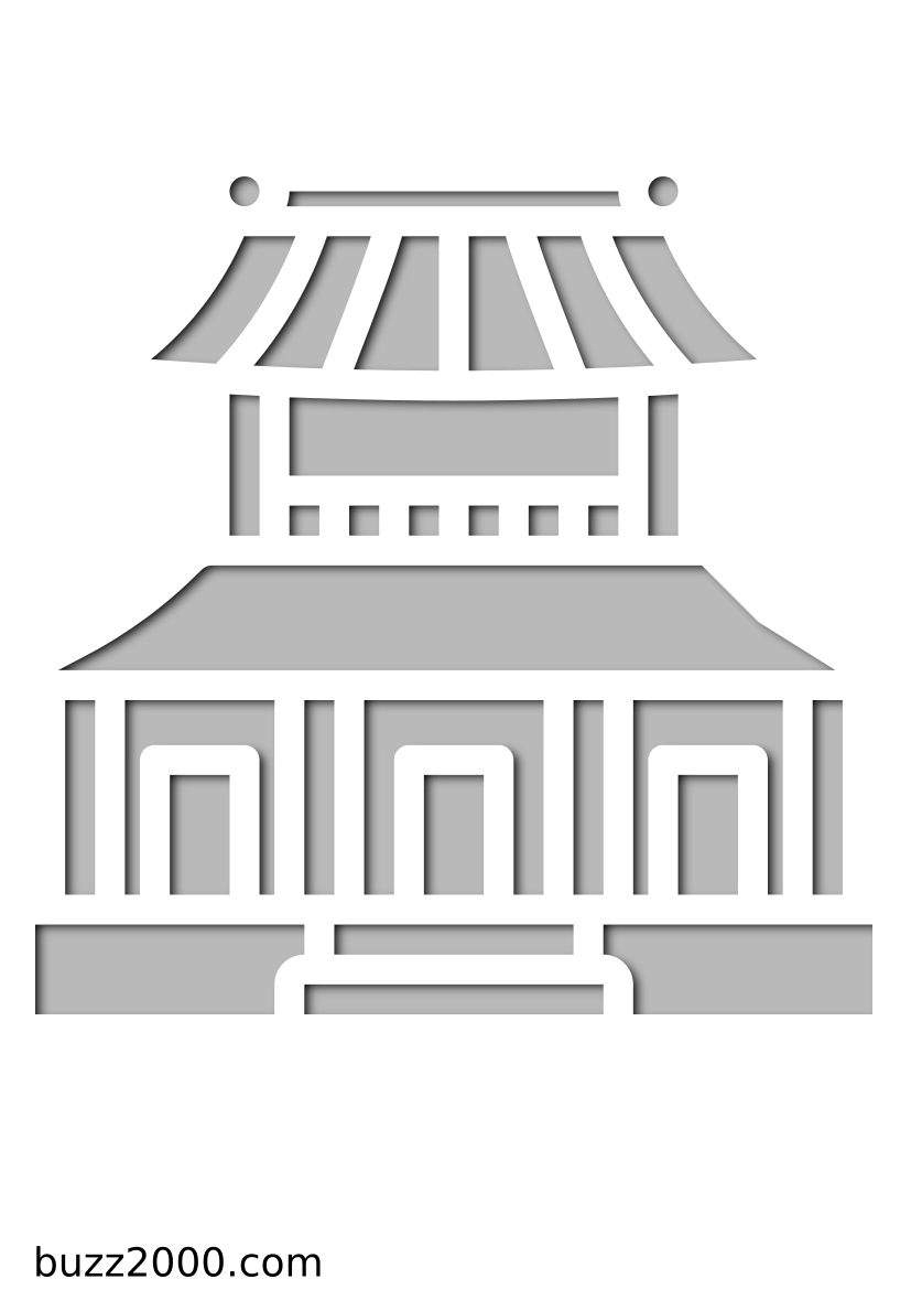 Pochoir Chine Dojo