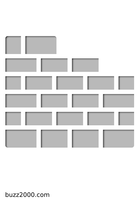 Pochoir Constructions Mur de briques