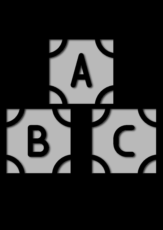 Pochoir Education-des-enfants Bloc Abc