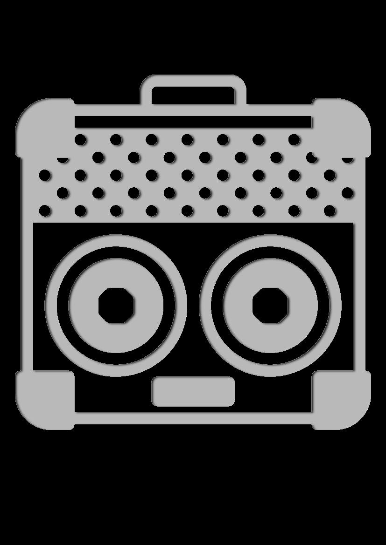 Pochoir Ensemble-de-musique Amplificateur