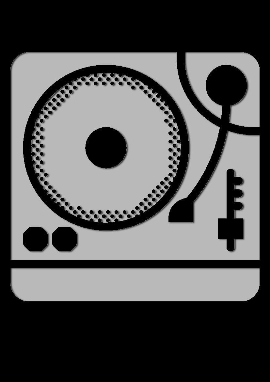 Pochoir Ensemble-de-musique Plaque tournante
