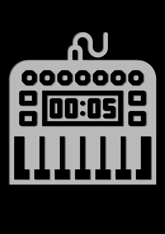 Pochoir Ensemble-de-musique Piano