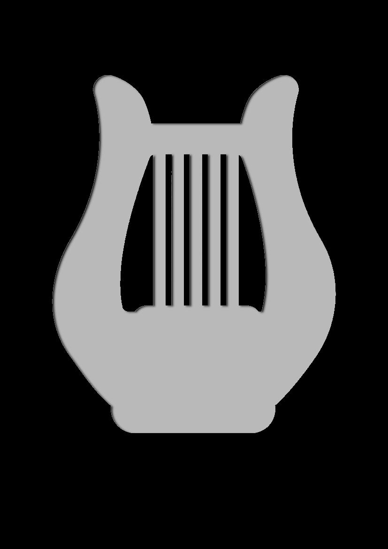 Pochoir Ensemble-de-musique Harpe