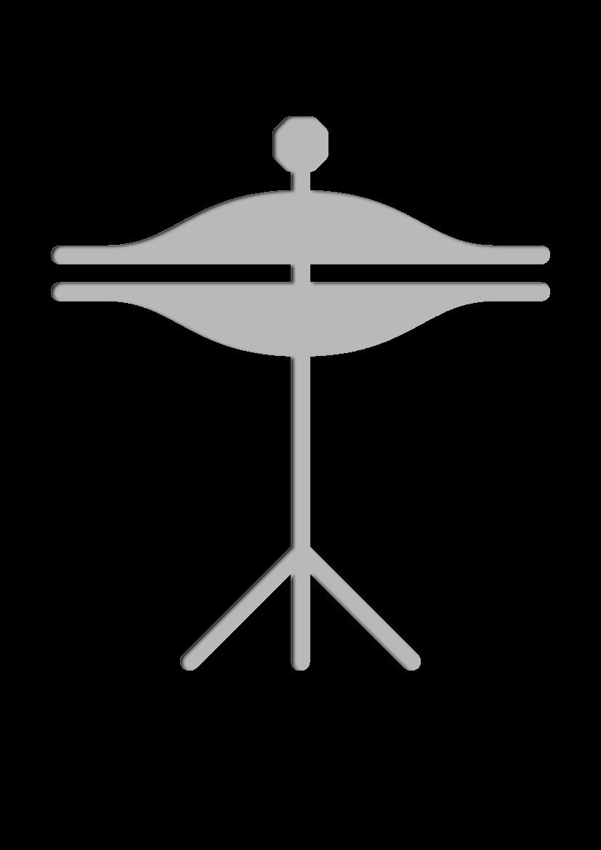 Pochoir Ensemble-de-musique Cymbales