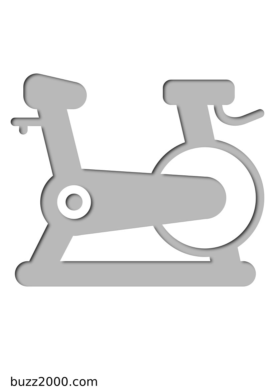 Pochoir Fitness Vélo stationnaire