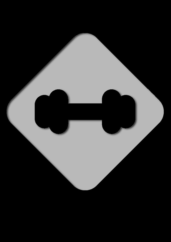 Pochoir Fitness Haltère